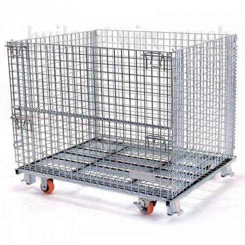 Galvanized metal wire mesh container in stock