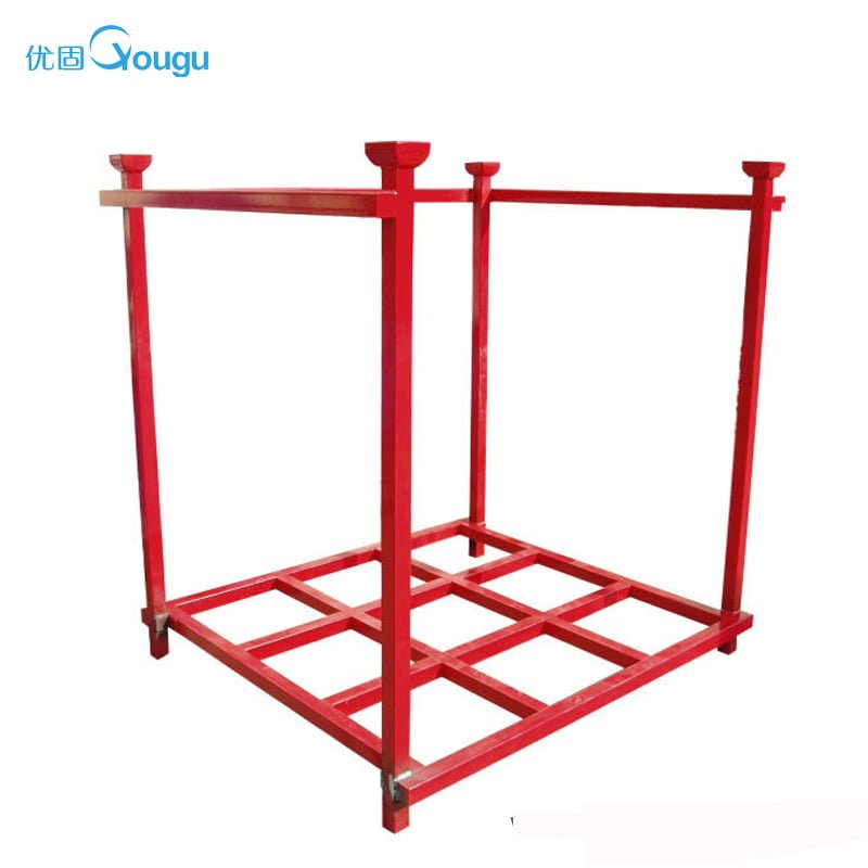 Storage warehouse folding heavy duty stacking rack
