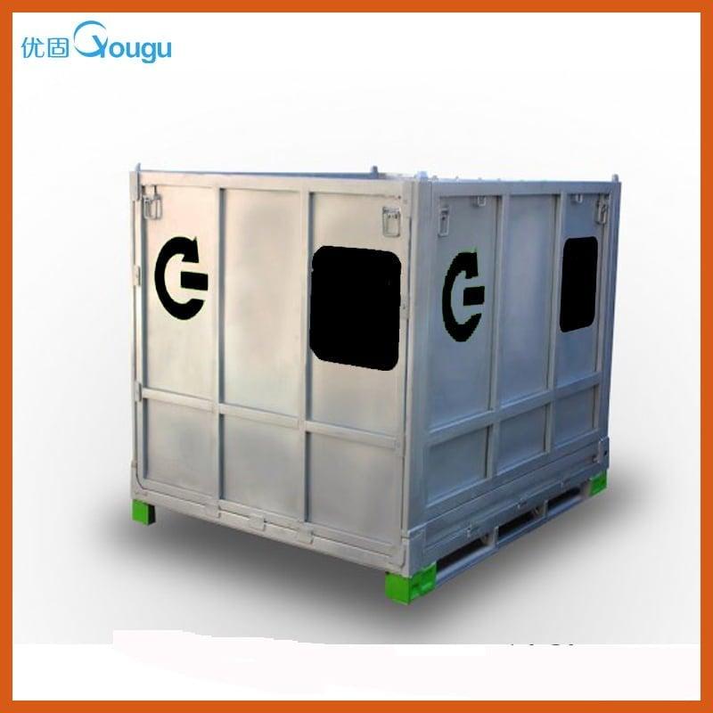 Hot dip galvanized metal storage cabinet