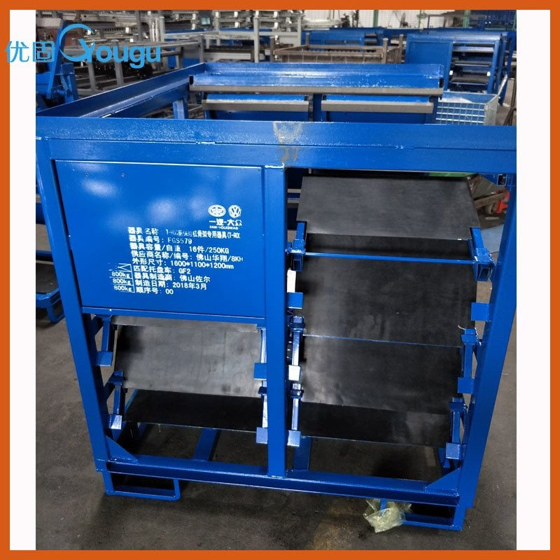 Fodable customized auto part roll container for honda toyota