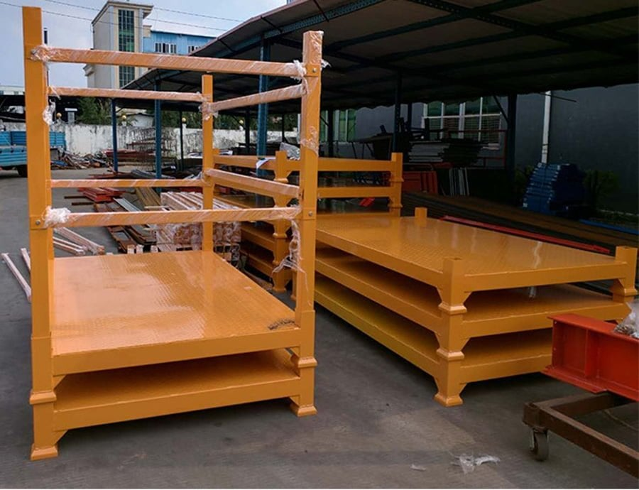Heavy duty warehouse durable euro metal pallets