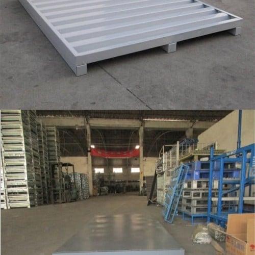 Heavy duty warehouse durable euro metal pallets