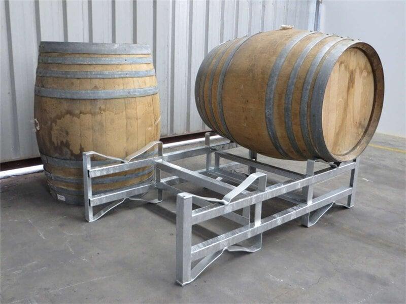 Steel wine barrel rack stacking rack