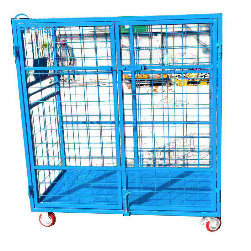 Cutomized folding roll container trolley factory